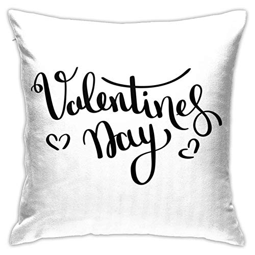 Happy Valentines Day Dormitorio/Sala/Habitación/Sofá Bonita funda de almohada de 45,72 cm