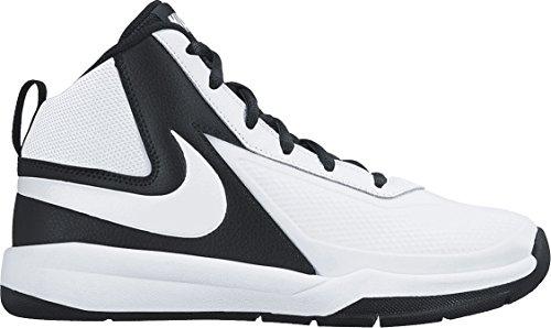 Nike Team Hustle D7 GS, Scarpe da Basket Bambino, Multicolore (White/White/Black), 37 1/2 EU