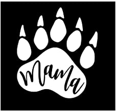 Laptops for Car Windows #DogMom Vinyl Decal etc Water Bottles Tablets Made in USA by Foxtail Decals | 4.5 x 4.0 inch White