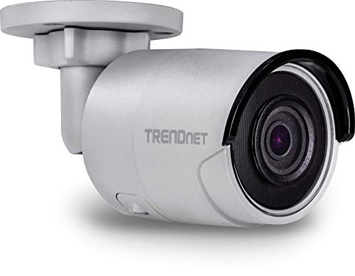 TRENDnet Indoor/Outdoor 8MP 4K H.265 120dB WDR PoE Bullet Network Camera, TV-IP1318PI, IP67 Weather Rated Housing, SmartCovert IR Night Vision up to 30m (98 ft.), microSD Card Slot