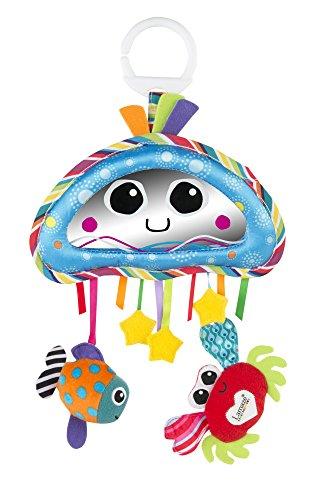 """Lamaze Baby Spielzeug """"Quabbel-Quallen Activity Spiegel"""" Clip & Go - hochwertiges Kleinkindspielzeug - Greifling Anhänger stärkt die Eltern-Kind-Beziehung - ab 0 Monate"""