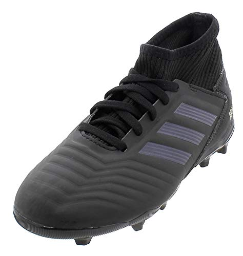 adidas Predator 19.3 Fg J, Scarpe da Calcio Unisex-Bambini, Multicolore (Core Black/Core Black/Gold Met. 000), 38 2/3 EU
