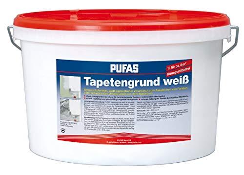 Pufas 12903000 TW8 Tapetengrund Tapetengrundierung, weiß, 10 Liter