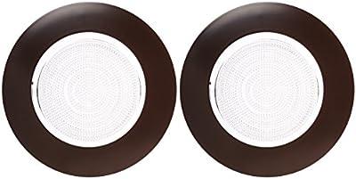 """Elco Lighting EL13BZ 6"""" CFL Sloped Shower Trim with Fresnel Lens - EL13 (CFL Sloped)"""