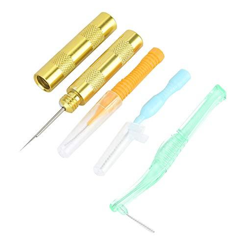 Herramienta de reparación de cepillo de boquilla 4 piezas Kit de limpieza de aerógrafo, para botella Gafas Limpieza de paja Aerógrafo Pistola de pulverización Herramienta de limpieza de