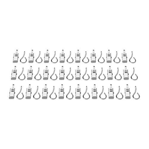 Ikea 802.122.01 Riktig Curtain Hook with Clip, (2) 24-Packs