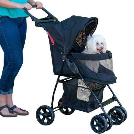 Pet Gear No-Zip Happy Trails Lite Pet Stroller, Zipperless Entry, Jaguar