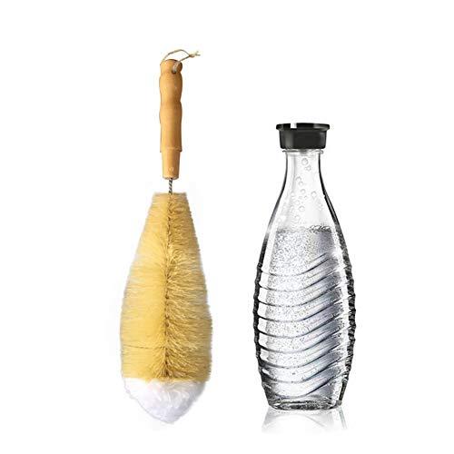 Cepillo de Limpieza,Cepillos Limpia Botellas para Cristalería,Lava Botellas de Fibras Naturales