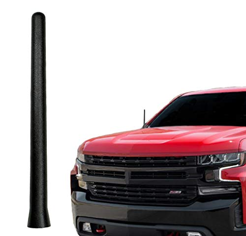 AntennaMastsRus - The Original 6 3 4 Inch is Compatible with GMC Sierra 2500 (2006-2019) - Car Wash Proof Short Rubber Antenna - Internal Copper Coil - Premium Reception - German Engineered