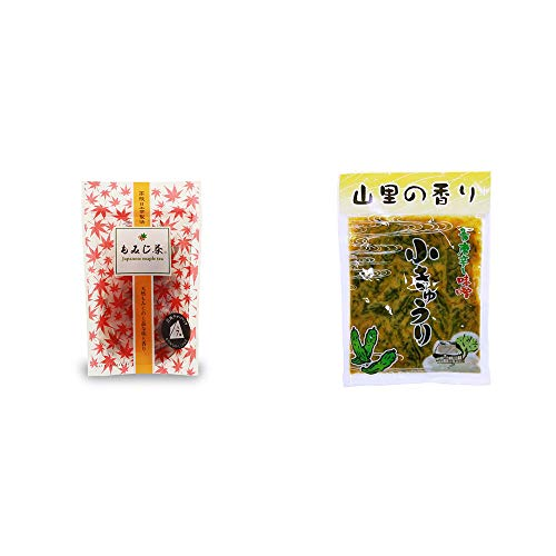 [2点セット] もみじ茶(7パック入)・山里の香り 青唐辛し味噌 小きゅうり(250g)