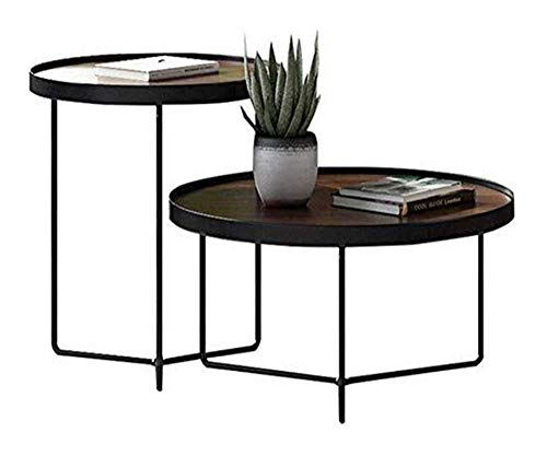 WSHFHDLC coffee table End Tables Coffee Tables Nesting Side Table Round Classical Style Tea Table Rack for Home and Living Room Office small coffee tables