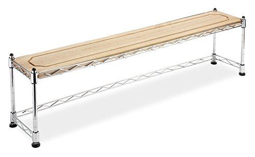 Whitmor Supreme Wood & Chrome Sink Shelf