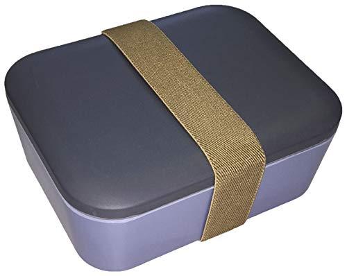 Wildfox Bambus Lunchbox, zweifarbige Brotdose 18x15x9cm (LxBxH) aus nachwachsendem Rohstoff Bambus recyclebar und biologisch abbaubar (anthrazit/taubenblaublau)