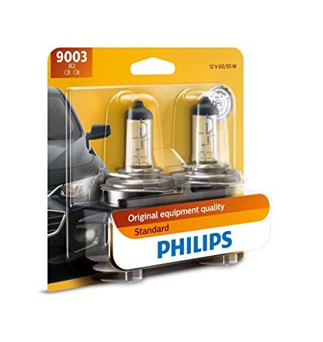 Philips 9003 Lámpara Delantera Halógena Estándar de Repuesto, paquete con 2 piezas