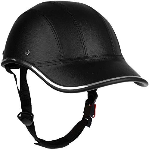 Inzopo Baseball Cap Style Motorcycle Bike Helmet Anti-UV Safety Hat Visor...