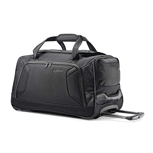 American Tourister Zoom Rolling Duffel Bag, Black American Tourister Mesh Carry On