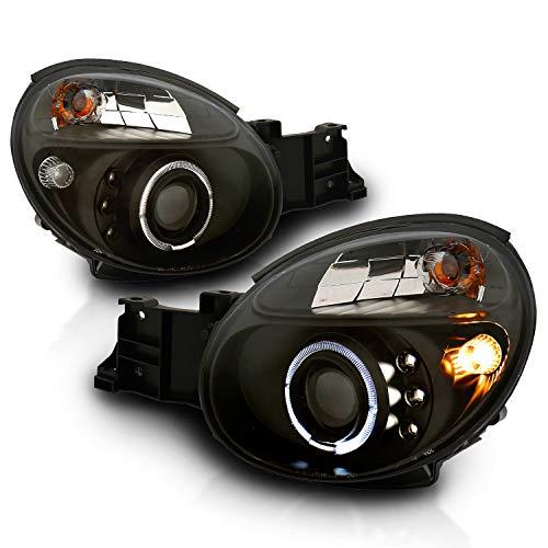 AmeriLite Projector Headlights Halo Black for Impreza - Passenger and Driver Side