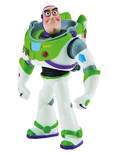 Bullyland 12760 - Spielfigur, Walt Disney Toy Story 3, Buzz Lightyear, ca. 9,3 cm groß, liebevoll handbemalte Figur, PVC-frei, tolles Geschenk für Jungen und Mädchen zum fantasievollen Spielen