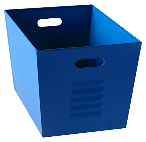 "Muscle Rack LB111310 Steel Utility Bins, 12"" Width x 11"" Height x 17"" Depth, Blue(pack of 6)"