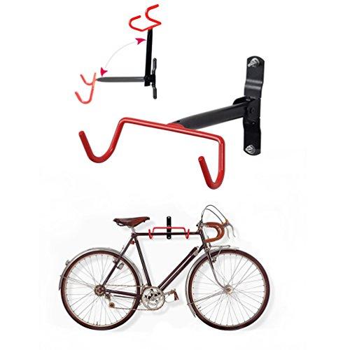 Soporte Bicicletas Pared para Colgar Bicicleta, Plegable Gancho Bicicleta, Cuelga Bicis Gancho de Pared para Garaje, hasta 20 kg