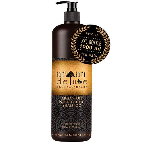 Argan Deluxe Shampoo in Friseur-Qualität 1000 ml - stark pflegend mit Arganöl für Geschmeidigkeit und Glanz - ADLX Saloncare