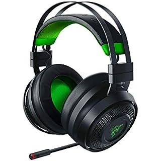 Razer Nari Ultimate for Xbox One Wireless 7.1 Surround Sound Gaming Headset: Hypersense Haptic Feedback - Auto-Adjust Headband - Green Lighting - Retractable Mic - for Xbox One - Black/Green (Renewed)