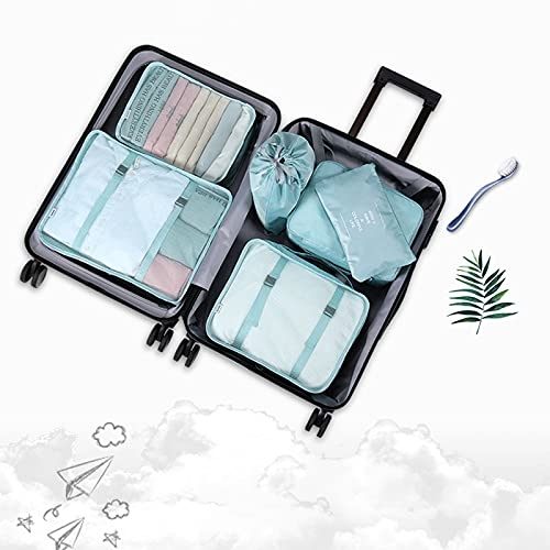 FTHH Organizadores de Viajes,Organizador de Maletas,Travel Packing Cubes,Impermeable Organizador de Maleta Bolsa para Ropa Sucia de Viaje