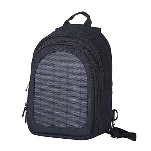 Hellery mit Solar Ladegerät Panel Rucksack Rucksack 2 Liter Business Laptop Tasche Wasserdicht Daypack - Dunkelblau