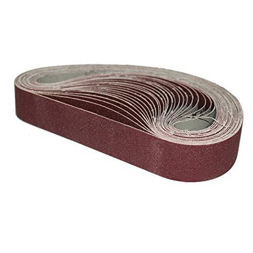 10 Uds 13 x 457MM cinturones de lijado 40-1000 granos de papel de lija bandas abrasivas para lijadora de banda herramienta abrasiva madera pulido de metal suave, 1000,13x457 mm