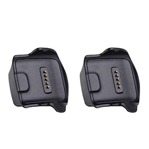 Kissmart Compatible with Gear Fit Charger (2PCS), Replacement Gear Fit Charger Charging Cradle Dock for Samsung Gear Fit R350 Smart Watch (2 Pack)