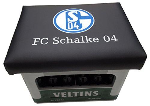 Schalke 04 kerstgeschenk - Het idee - Schakel 04 Fanartikelen zitkussen bierkrat-opzetstuk bierkist
