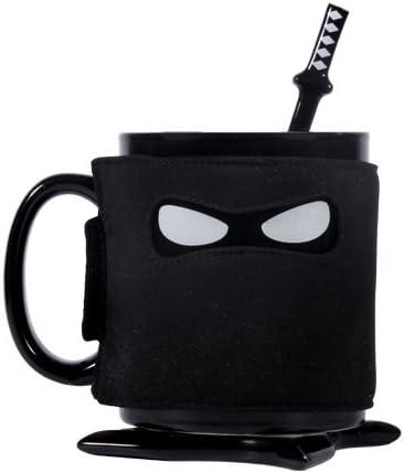 Schwarze Ninja Kaffee Tasse
