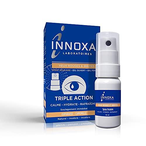 Innoxa Oogspray voor rode en geïrriteerde ogen, geurloos en kleurloos, natuurlijk, tegen vermoeidheid van de ogen, 10 ml
