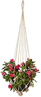 Set of 4 Plant Hanger | Pot Holder | Hanging Basket | Home & Garden Decor | Sika with Rust Red Beads