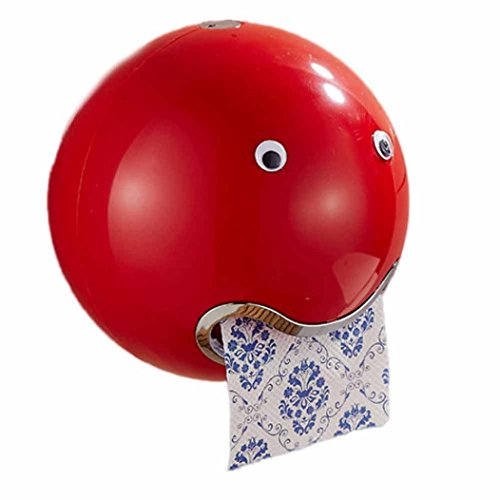 WC-Papierhalter, Frashing Ball Shaped Cute Toilettenpapierhalter Wasserdicht Toilettenpapier Box Rollenpapier Halter