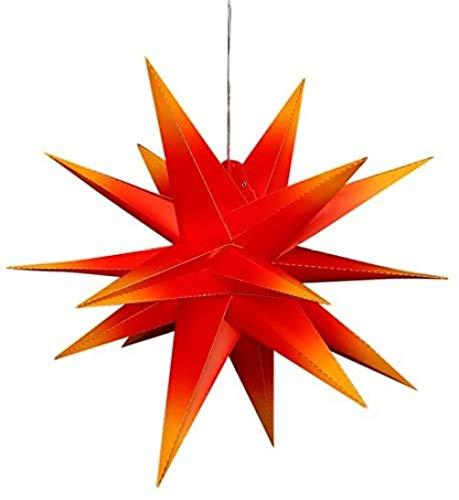 Luces navideñas de explosión de estrellas, luces de decoración navideña, 55 cm, estrellas luminosas plegables, luces de estrellas, estrellas que vienen de extranjeros, no requiere transformador.