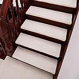 ZEQUAN Teppich Fußpedale □ Innentreppenmatten □ selbstklebend rutschfest und waschbar (weiß, 24 cm x 65 cm) (Color : 5psc, Size : 80 * 24cm)