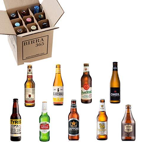 Caja selección de 9 cervezas rubias diferentes. El pack de cervezas más refrescantes pero con cervezas con cuerpo.