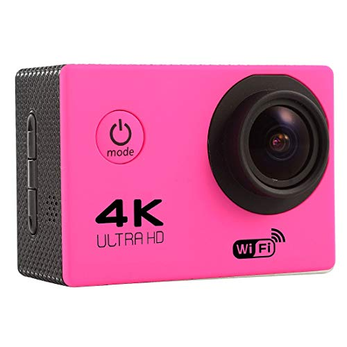 ZMKK Other Camera F60 2.0 inch Screen 4K 170 Degrees Wide Angle WiFi Sport Action Camera Camcorder with Waterproof Housing Case, Support 64GB Micro SD Card(Black) (Color : Magenta)