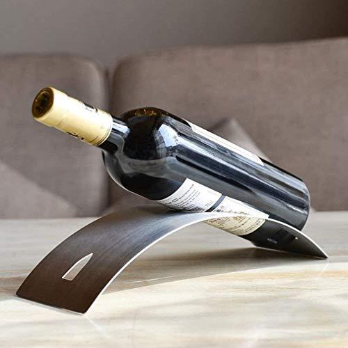 Soporte para botella de vino simple y creativo, de acero inoxidable, para decoración del hogar