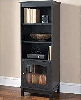 Audio Video Pier Free Standing Media Cabinet (Black Oak)