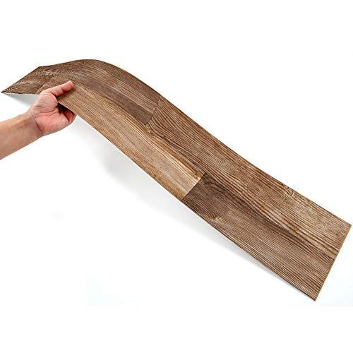 Kuke 7 Stücke Bodenaufkleber Selbstklebend 15.5 * 91.5cm, Muster Stil Bodenfliesen Fliesenaufkleber Wasserdichte Anti-Rutsch Fliesensticker für Küchenboden Bad Wohnzimmer Balkon