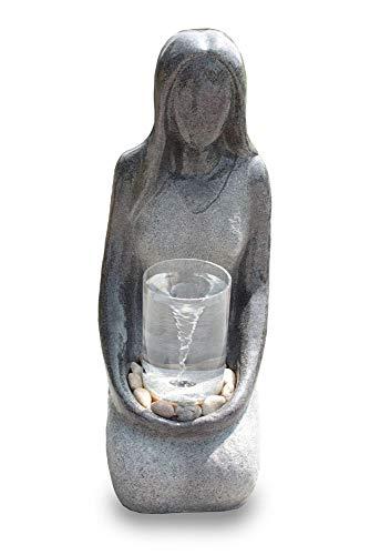 Kiom Gartenbrunnen Zierbrunnen FoDonna mit Wasserstrudel Effekt 10897