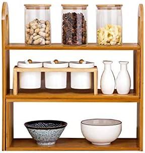Challenge the lowest price Wooden Spice Rack Kitchen Stora Storage Jar Limited time sale Counter