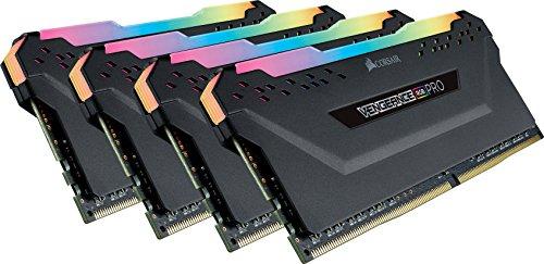 Corsair Vengeance RGB PRO 32GB (4x8GB) DDR4 3200MHz C16 XMP 2.0 Enthusiast RGB LED-Beleuchtung Speicherkit - schwarz