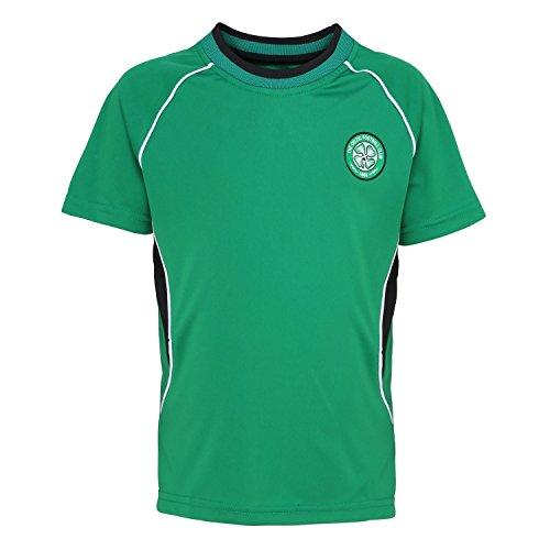 Official Football Merchandise Kids Celtic FC Short Sleeve T-Shirt (6/7 Years) (Green)