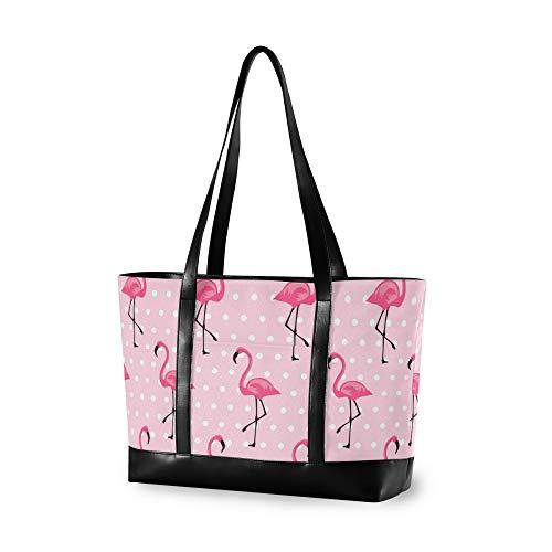 RELEESSS Tragetasche Laptop Taschen Flamingo Bird Handtasche Schultertasche Laptoptasche für Frauen Damen Mädchen