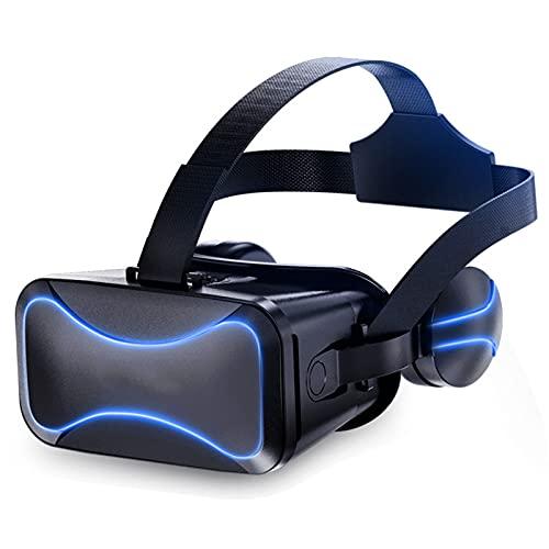 WXHXSRJ Auriculares VR, Gafas 3D VR, Auriculares de Realidad Virtual HD, para teléfonos Inteligentes con Pantalla de 4.5-6.0 Pulgadas, para Videojuegos de películas 3D VR