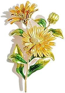 weichuang Bonito broche colorido con diseño de margaritas esmaltadas, flores de metal, para bodas y banquetes, para mujere...