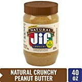 Jif Natural Crunchy Peanut Butter, 40 oz. (Pack of 8) – 7g (7% DV) of Protein per Serving, Packed...